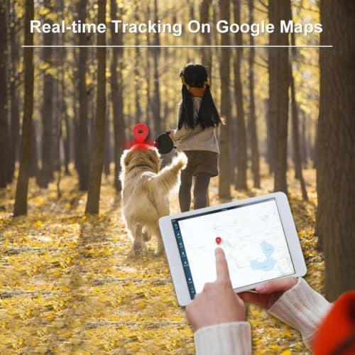Ανιχνευτής κατοικιδίου GPS Tracker με Κολάρο ειδικά σχεδιασμένο για σκύλους και γάτες με Google Maps