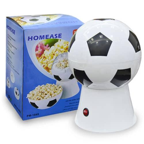 Ηλεκτρικό μηχάνημα ποπ κορν μπάλα ποδοσφαίρου με ένα κουμπί για ευκολία και αποσπώμενο καπάκι