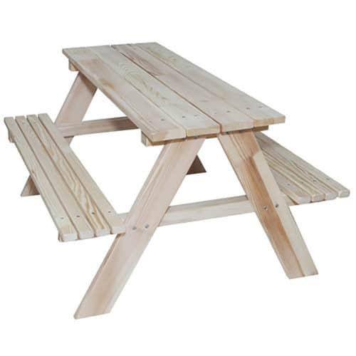 Παιδικό Ξύλινο τραπέζάκι κήπου πικ-νικ με παγκάκια διαστάσεων 92x78x52cm ασφαλής και γερή κατασκευή