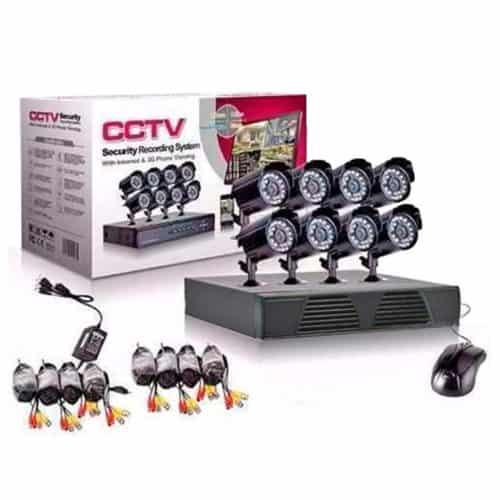 Σετ Καταγραφικό δικτύου με 8 Καμερες για Εποπτεία και Καταγραφής χώρου CCTV Security Reconding System