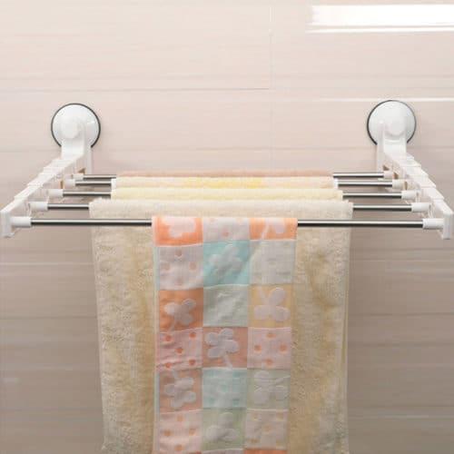 Επιτοίχια κρεμάστρα Μπάνιου 5 Θέσεων από υψηλής ποιότητας πλαστικό και μπάρες από ανοξείδωτο ατσάλι