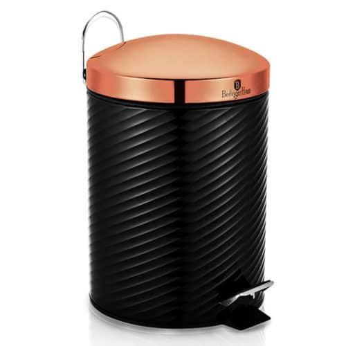 Κάδος Απορριμάτων 7 λίτρων με Πεντάλ από Αλουμίνιο ιδανικός για Μπάνιο και Κουζίνα σε Black Rose χρώμα