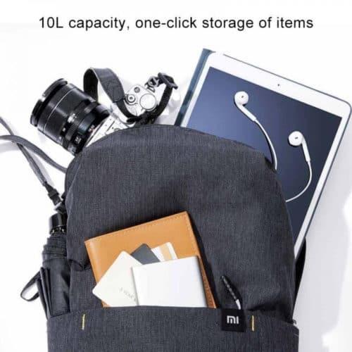 Αδιάβροχη unisex γνήσια τσάντα Backpack Xiaomi με διπλό φερμουάρ με εσωτερικές & εξωτερικές τσέπες σε μαύρο χρώμα FERRARI