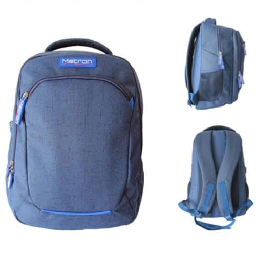 """Αδιάβροχη τσάντα Laptop 15,6"""" ανθεκτική με ενισχυμένη πλάτη και ανατομικούς ιμάντες σε μοντέρνο σχέδιο μπλε METRON 11025318"""