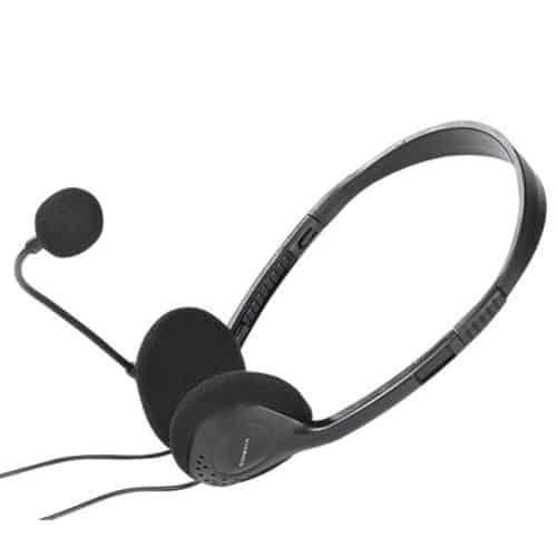 Στερεφωνικά ρυθμιζόμενα ακουστικά με μικρόφωνο ελαφρά με πολύ καλή ποιότητα ήχου και καλώδιο 2m Vivanco 11026872
