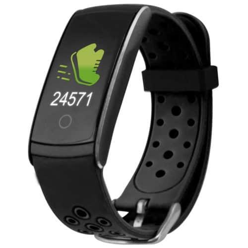 Αδιάβροχο IP68 ρολόι Smartband σε μαύρο χρώμα με οθόνη αφής LCD και πολλές λειτουργίες Ksix HR 2 SPORT TRACKER
