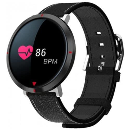 Αδιάβροχο ρολόι κινητό σε μαύρο χρώμα με λειτουργίες Fitness και υγείας, κάμερα και οθόνη TFT, SW AS2 FITNESS