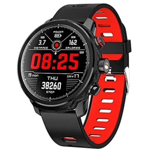 Ρολόι κινητό σε μαύρο κόκκινο χρώμα με λειτουργίες Fitness και υγείας, και οθόνη TFT, SW AL5B FITNESS