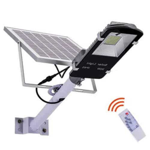 Ηλιακός Προβολέας Led 50W με Πάνελ με Κολώνα, Τηλεχειριστήριο και Χρονοδιακόπτη 5800LM Solar street light JD-650