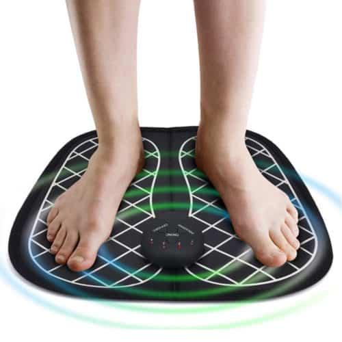 Συσκευή Μασάζ Ποδιών με τεχνολογία ηλεκτροδιέγερσης με 10 επιλογές έντασης και 6 προγράμματα EMS Foot Massager