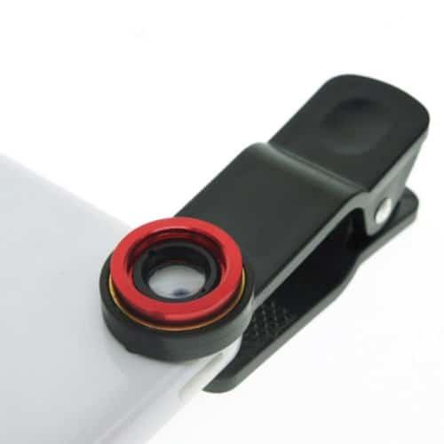 Universal σετ φακών fish eye, macro lens, wide lens με κλιπ για όλα τα κινητά Ksix BXCLENS
