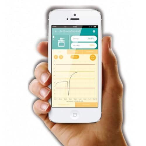 Έξυπνος αισθητήρας θερμοκρασίας και υγρασίας με απομακρυσμένο έλεγχο από το κινητό σας μέσω bluetooth Ksix Clima Sensor