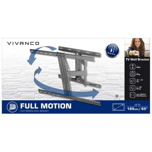Στιβαρός περιστρεφόμενος διπλός βραχίονας τηλεόρασης από χάλυβα για τηλεοράσεις έως 65 ιντσών (165cm) VIVANCO FULL MOTION VESA 600