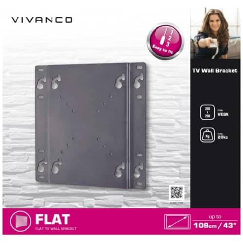 Κλασσικό επιτοίχιο σταθερό στήριγμα τοίχου τηλεόρασης για μεγέθη μέχρι 43 ιντσών (109 cm) VIVANCO BFI6020