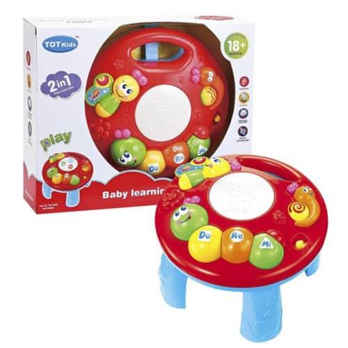 Παιχνίδι μουσικό γραφείο δραστηριοτήτων με ήχο διάστασης 31x26cm σε χρώμα κόκκινο ToyMarkt 941072