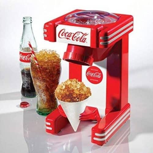 Retro Vintage Αυτόματος Ηλεκτρικός Θρυμματιστής Πάγου 30W σε Κόκκινο χρώμα, 16.5x10x31.5cm, Coca Cola