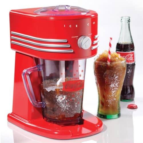 Retro Vintage Αυτόματος Ηλεκτρικός Θρυμματιστής Πάγου XL 15W σε Κόκκινο χρώμα, 24x31x20cm Coca Cola