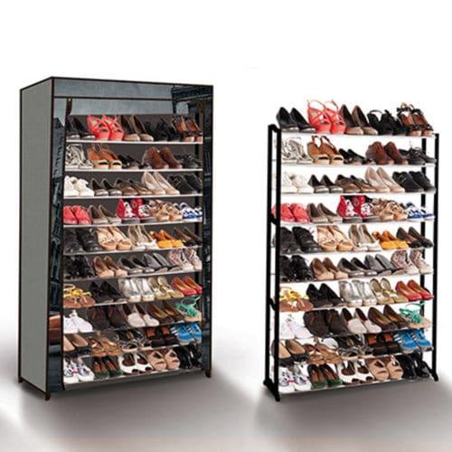 Stand Αποθήκευσης 50 Ζευγαριών Παπουτσιών με θέμα New York διαστάσεων 141x91x25cm SPM 30010052