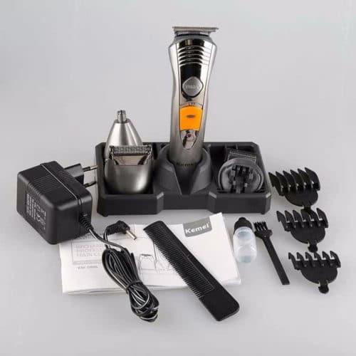 Επαναφορτιζόμενη Ξυριστική - Κουρευτική Μηχανή 7in1 Grooming Kit με τεχνολογία Micro-Blade Kemei ΚΜ-580