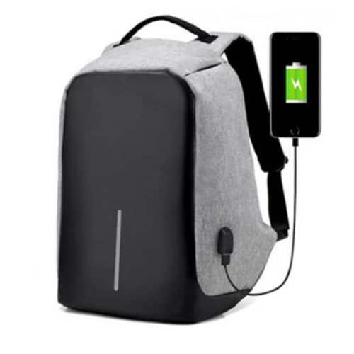 Αντικλεπτικό Σακίδιο Πλάτης με Θύρα USB Χρώματος Γκρι ΟΕΜ