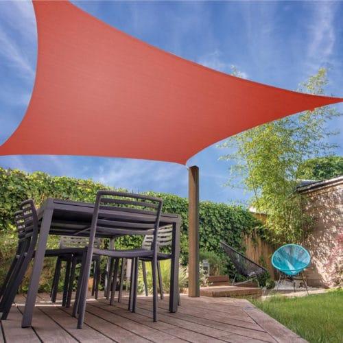 Αντηλιακή Τετράγωνη Τέντα Σκίαστρο από πολυεστέρα διάστασης 5x5m σε απόχρωση terracota Aria Trade