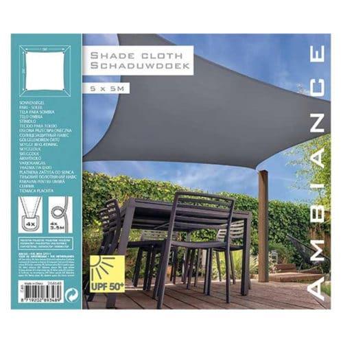 Αντηλιακή Τετράγωνη Τέντα Σκίαστρο από πολυεστέρα διάστασης 5x5m σε λευκό χρώμα Aria Trade