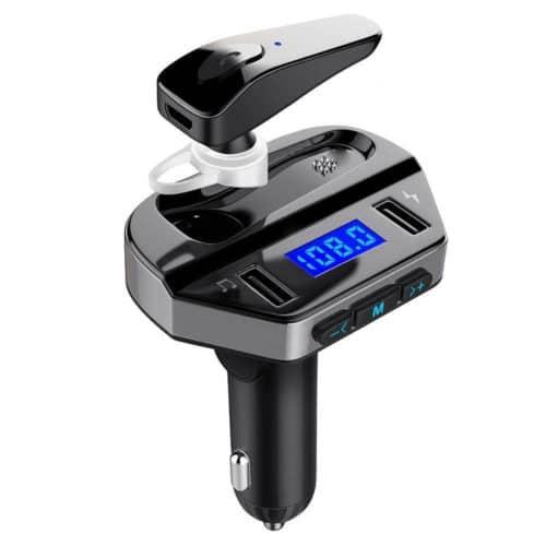Πομπός Bluetooth USB MP3 Player, FM Transmitter, και Φορτιστής Αυτοκινήτου με Ακουστικό Hands-free
