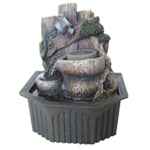 Συντριβάνι Feng Shui με Τρεχούμενο Νερό από Ανάγλυφο υλικό Πολυρεσίνης με αντλία, σχέδιο κορμός Fountain COMO