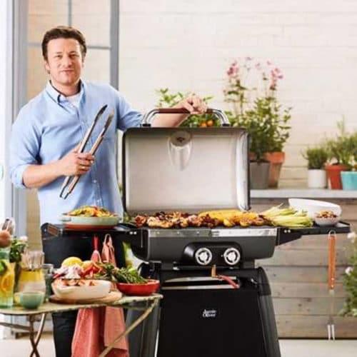 Τροχήλατη Ψησταριά Αερίου Barbeque με 2 καυστήρες, 130x59x111cm, Explorer 5500 Jamie Oliver