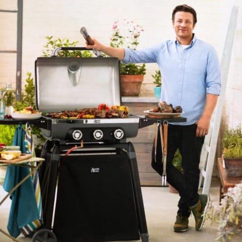 Τροχήλατη Ψησταριά Αερίου Barbeque με 3 καυστήρες, 145x62x113cm, Explorer 6500 Jamie Oliver