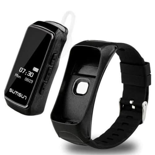 Αδιάβροχο Smartband Έξυπνο Ρολόι Bluetooth Handfree 2 σε 1 με λειτουργία Bluetooth 4.0 σε μαύρο χρώμα B7