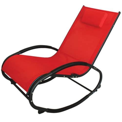 Ελλειπτική Κουνιστή Καρέκλα με μεταλλικό σκελετό και κάλυμμα σε δύο χρώματα, διαστάσεις 151x62x91cm ΟΕΜ