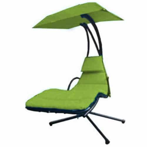 Μεταλλική Αδιάβροχη Κρεμαστή Ξαπλώστρα Αιώρα με ομπρέλα και ολόσωμο μαξιλάρι σε 6 χρώματα Aria Trade