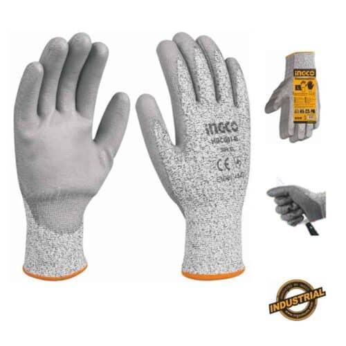 Γάντια PU Aντοχής στα Koψίματα, INGCO HGCG 01