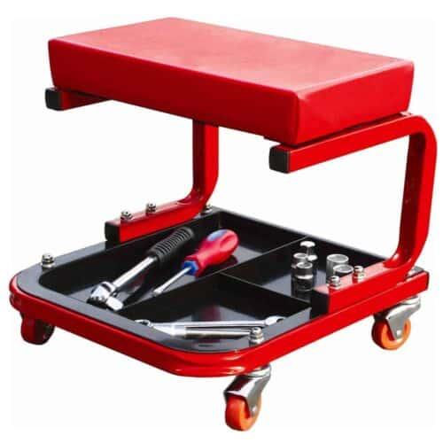 Κάθισμα Συνεργείου με θήκη εργαλείων σε κόκκινο χρώμα Bormann BWR5029