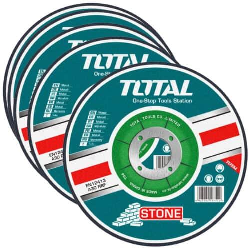 Σετ 5τμχ Δίσκοι Κοπής Δομικών Υλικών & Πέτρας 230mm Total TAC2222301