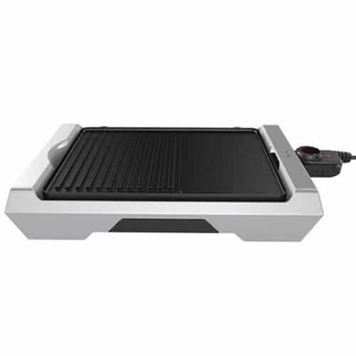 Ηλεκτρική Αποσπώμενη Πλάκα Ψησίματος Γκριλ Grill Plate 2000W από Αλουμίνιο και Αντικολλητική επίστρωση σε Μαύρο-Λευκό χρώμα, Homa HG-2636D 00071886