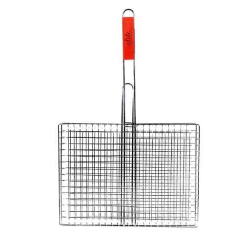 Επίπεδη Σχάρα Ψησίματος Ψησταριάς με ξύλινη λαβή, 63x40x30 cm Elite 00101284