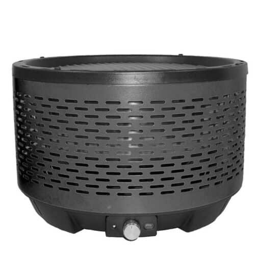 Φορητή Γκριλιέρα BBQ από Ανοξείδωτο Ατσάλι, σε μαύρο χρώμα, διαστάσεις 32.4x22 εκατοστά Aria Trade 00094217