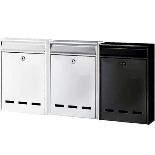Γραμματοκιβώτιο 30x20x5cm Λευκό, Μαύρο, Γκρί Bormann