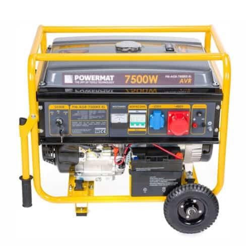 Φορητή Τριφασική Ηλεκτρογεννήτρια Βενζίνης 7500 W POWERMAT PM-AGR-7500KE-EL