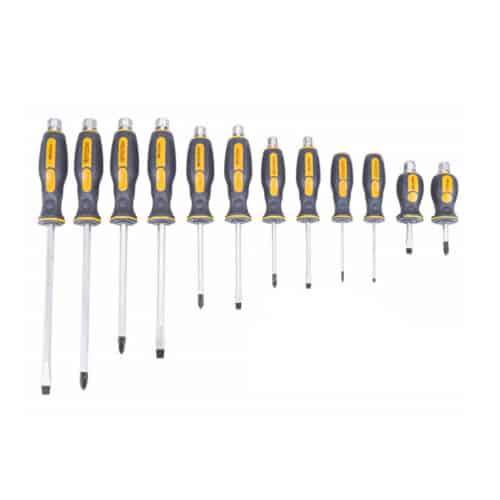 Σετ Μαγνητικά Κατσαβίδια 12 τμχ σε Βαλιτσάκι POWERMAT PM-WK-12GT