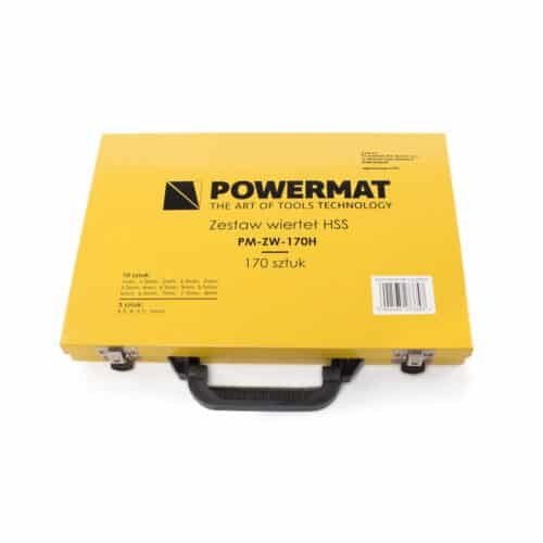 Σετ Τρυπανιών 170 τμχ σε Μεταλλικό Βαλιτσάκι POWERMAT PM-ZW-170H