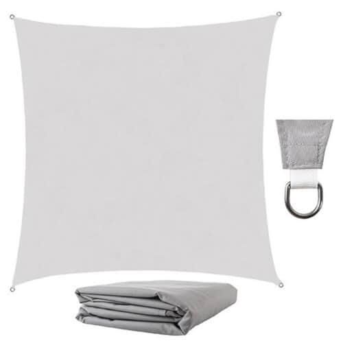 Αντηλιακή Τετράγωνη Τέντα Σκίαστρο από πολυεστέρα σε γκρι χρώμα, 3.6x3.6 m, Square shade cloth 00106875