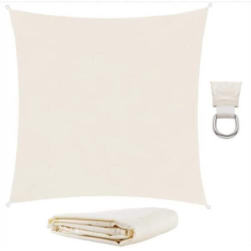 Αντηλιακή Τετράγωνη Τέντα Σκίαστρο από πολυεστέρα σε μπεζ χρώμα, 3.6x3.6 m, Square shade cloth 00106879