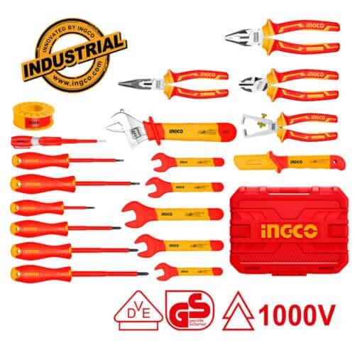 Επαγγελματικό Σετ 19 Τεμ Εργαλείων Ηλεκτρολόγου INGCO HKITH1901