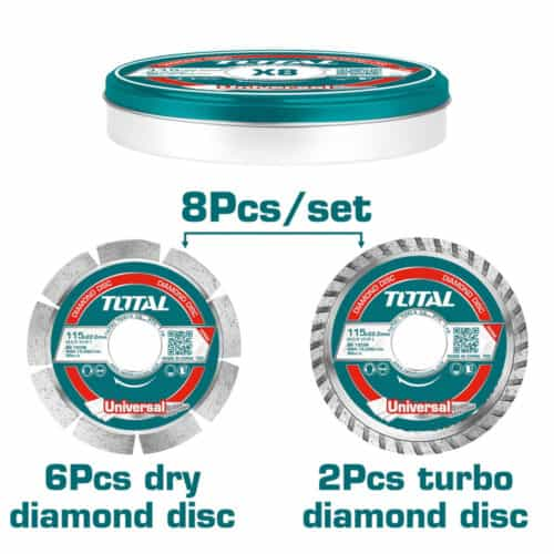 Σετ Διαμαντόδισκοι 115mm 8τμχ Total TAC2101153