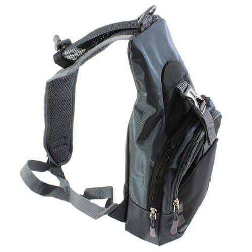 Αδιάβροχο Σακίδιο Τσάντα Ώμου με πολλαπλές θήκες σε γκρι χρώμα, 38x20x10 cm, Shoulder Backpack Aria Trade