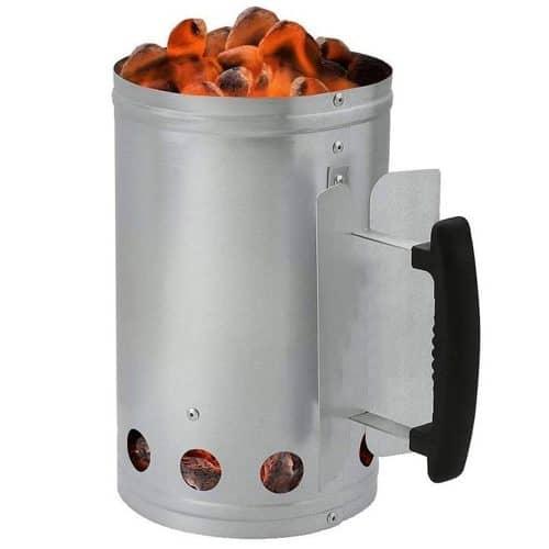 Δοχείο Εκκίνησης για κάρβουνα από Ανοξείδωτο ατσάλι, 26.5x27 cm, BBQ Starter, Aria Trade