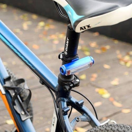 Επαναφορτιζόμενος φακός ποδηλάτου με 3 λειτουργίες 100Lm - Comet Bicycle Light - Μπλε